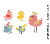 cute birds vector set... | Shutterstock .eps vector #630543575