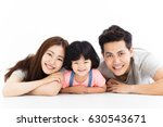 happy family with little girl ... | Shutterstock . vector #630543671