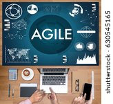 Small photo of AGILE Agility Nimble Quick Fast Concept businessman working