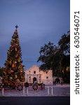 The Alamo With A Christmas Tree.