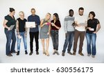 happiness group of people... | Shutterstock . vector #630556175