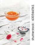 bright yellow alcohol cocktail... | Shutterstock . vector #630566561