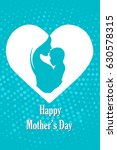 mother kissing her baby | Shutterstock . vector #630578315