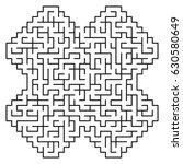 abstract maze   labyrinth with...   Shutterstock .eps vector #630580649