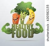 "vector green emblem ""healthy... | Shutterstock .eps vector #630582155"