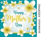 frangipani  plumeria  frame... | Shutterstock .eps vector #630589481