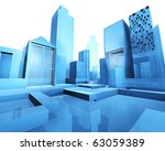 3d illustration of empty city... | Shutterstock . vector #63059389