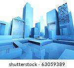 3d illustration of empty city... | Shutterstock . vector #63059389