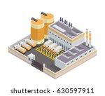 modern isometric industrial... | Shutterstock .eps vector #630597911