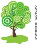 vector abstract tree | Shutterstock .eps vector #63060190