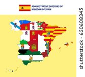 administrative divisions of... | Shutterstock .eps vector #630608345