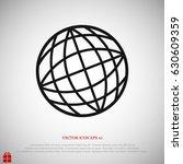globe vector icon  vector best... | Shutterstock .eps vector #630609359