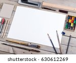 photo. mock up for illustrators ... | Shutterstock . vector #630612269