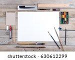 photo. mock up for illustrators ...   Shutterstock . vector #630612299