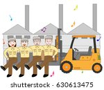 the exercise of people working... | Shutterstock .eps vector #630613475