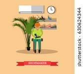 vector illustration of worker... | Shutterstock .eps vector #630624344
