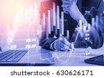 double exposure businessman and ... | Shutterstock . vector #630626171
