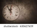 vintage clock on the wood wall  ... | Shutterstock . vector #630627659