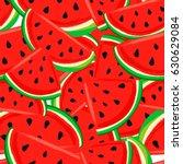 Watermelon Pattern Seamless...