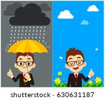 vector character  weather... | Shutterstock .eps vector #630631187