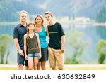 family of four outdoors | Shutterstock . vector #630632849