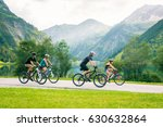 family of four cycling | Shutterstock . vector #630632864
