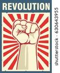vintage style vector revolution ... | Shutterstock .eps vector #630643955