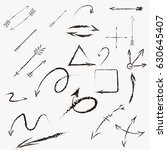black vector arrows. design... | Shutterstock .eps vector #630645407