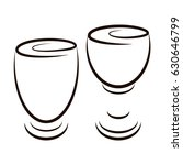 set of 2 outline icons such as... | Shutterstock .eps vector #630646799