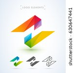 vector abstract logo template | Shutterstock .eps vector #630647441