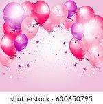 pink purple birthday background ... | Shutterstock . vector #630650795