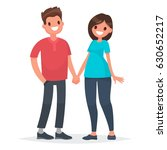 couple of young people. man and ... | Shutterstock .eps vector #630652217