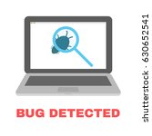 bug detection qa testing.... | Shutterstock .eps vector #630652541