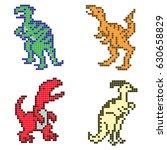 the set of predator dinosaurs ... | Shutterstock .eps vector #630658829