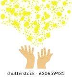 raised up his hands  releasing... | Shutterstock .eps vector #630659435