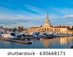 seaport with mooring boats at... | Shutterstock . vector #630668171
