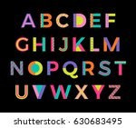 creative colorful geometric... | Shutterstock .eps vector #630683495