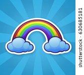 vector illustration. rainbow... | Shutterstock .eps vector #630685181