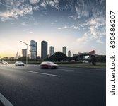 asphalt pavement urban road at... | Shutterstock . vector #630686207
