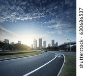 asphalt pavement urban road at... | Shutterstock . vector #630686537