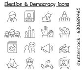 election   democracy icon set... | Shutterstock .eps vector #630689465