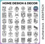 home design and decor concept... | Shutterstock .eps vector #630695624