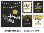 graduation class of 2017  party ... | Shutterstock .eps vector #630704495