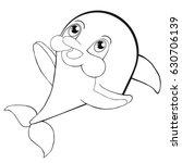 coloring book  cute cartoon... | Shutterstock .eps vector #630706139