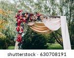 wedding autumn decor with... | Shutterstock . vector #630708191