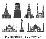 architecture. western asia.... | Shutterstock .eps vector #630709427