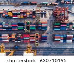 port of business transaction... | Shutterstock . vector #630710195