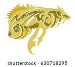 freakish fish. tribal abstract...   Shutterstock .eps vector #630718295