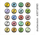 allergen icons set. color....