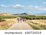 A Group Of Pilgrims Walking Th...
